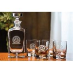 Custom Imprinted Deluxe Square Decanter Set