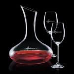 Custom Imprinted Cimarron Carafe & 2 Wine