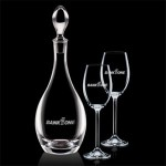 Custom Engraved Malvern Decanter & 2 Wine