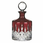 Waterford Crystal Lismore Red Decanter Custom Imprinted