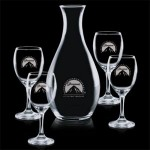 Logo Branded Riley Carafe & 4 Wine