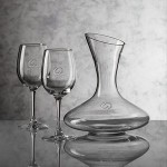 Edenvale Carafe & 2 Wine Glasses Logo Branded