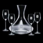 Custom Printed Senderwood Carafe & 4 Woodbridge Wine
