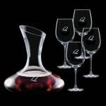 Edenvale Carafe & 4 Wine Logo Branded