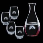 Custom Printed Riley Carafe & 4 Stanford Wine