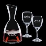 Personalized Rathburn Carafe & 2 Wine