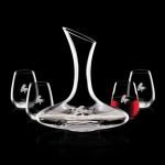 Promotional Madagascar Carafe & 4 Stemless Wine