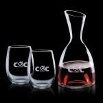 Rathburn Carafe & 2 Stemless Wine Custom Imprinted
