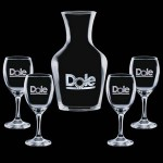 Personalized Summit Carafe & 4 Wine