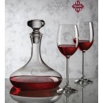 Logo Branded Stratford Decanter & 4 Wine Glasses