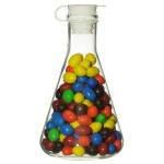 500 ml Erlenmeyer Candy or Treat Flask w/ Silicone Stopper Custom Imprinted