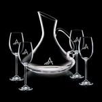 Logo Branded Bearden Carafe & 4 Wine