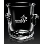 "Logo Branded European Crystal Legato Ice Bucket (8 1/2""x7""x6 1/4"")"