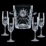 Logo Branded Cavanaugh Wine Cooler & 4 Flutes