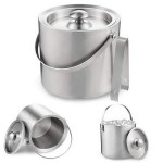 Personalized Double Walled Stainless Steel Ice Bucket 1.3L