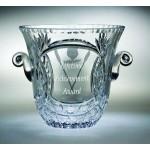 """Custom Printed Fairway Ice Bucket Award - Lead Crystal (7 1/2""""x7 1/2"""")"""