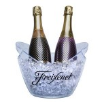 Personalized Small (1-2 Bottle) Acrylic Champagne Wine Ice Bucket