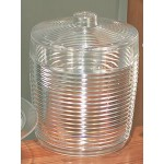 Promotional Ringed Plastic Heavy Weight Ice Bucket w/ Cover - Large