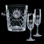 Custom Engraved Cavanaugh Wine Cooler & 2 Flutes