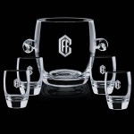 Custom Printed Belfast Ice Bucket & 4 On-the-Rocks