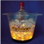 Round LED Ice Bucket Logo Branded