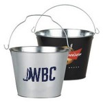Custom Metal Ice Bucket Logo Branded