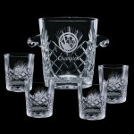 Logo Branded Cavanaugh Ice Bucket & 4 Old Fashioned