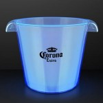 Blue LED Light Up Buckets For Ice & Drinks Custom Imprinted