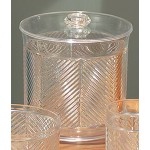 Custom Printed Plastic Chevron Ice Bucket w/ Cover