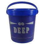 """Logo Branded 32 Oz. Plastic Bucket & Handle w/Full Color """"In Mold Labeling"""""""