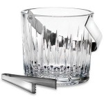 Custom Engraved Reed & Barton Soho Crystal Ice Bucket With Tongs