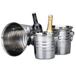 Logo Branded Polishing Stainless Steel Beer Wine Ice Bucket