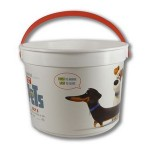"""Personalized 48 oz. Plastic Bucket & Handle w/Full Color """"In Mold Labeling"""""""
