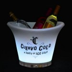 Custom Imprinted LED Non Flat Edge Ice Bucket