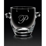 "Custom Engraved European Crystal Coronet Ice Bucket (7""x7""x7"")"