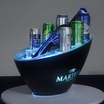 Logo Branded Single Layer LED Ice Bucket