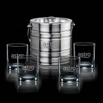 Custom Engraved Milano Ice Bucket & 4 Aristocrat OTR