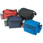 6-Pack Cooler w/ Bottle Holder & Cell Phone Pouch Custom Printed