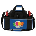 24 Cans Easy Access Cooler Plus Wine Bottle Holders Custom Printed