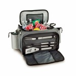 Logo Branded Vulcan All-In-One BBQ Grill/Cooler/Tote w/Gas Grill & BBQ Tools
