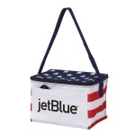 Custom Printed Poly 6 Can Stars & Stripes Cooler Bag