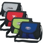 Double Zippered Personal Messenger Lunch Cooler Bag Custom Printed