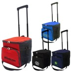 36 Can Collapsible Rolling Cooler Bag Custom Printed