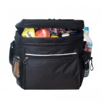 24 Pack Multi Pocket Polyester Insulated Cooler Lunch Bag Custom Imprinted