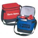 Custom Imprinted 12 Pack Durable Polyester Cooler Lunch Bag