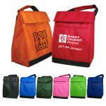 Custom Imprinted Polyester Insulated Lunch Bags with Handle & Pocket