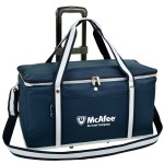 Collapsible Wheeled Cooler- Steel frame/Side Supports-72 can Capacity Custom Imprinted