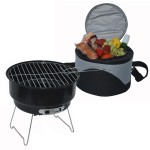 Logo Branded Combination BBQ Grill and Cooler