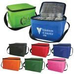 6 Pack Cooler Bag - Polyester Insulated Lunch Bag with Handle & Pocket Logo Branded