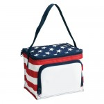 Poly Stars and Stripes Style Lunch Bag Logo Branded
